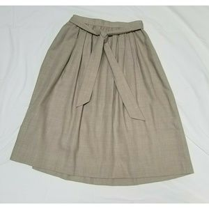Brooks Brothers Belted A-Line Skirt